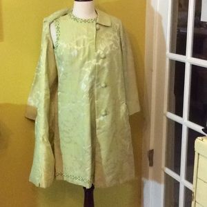 Vintage sheath dress with matching swing coat